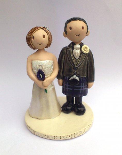 Kilt Wedding Cake Topper