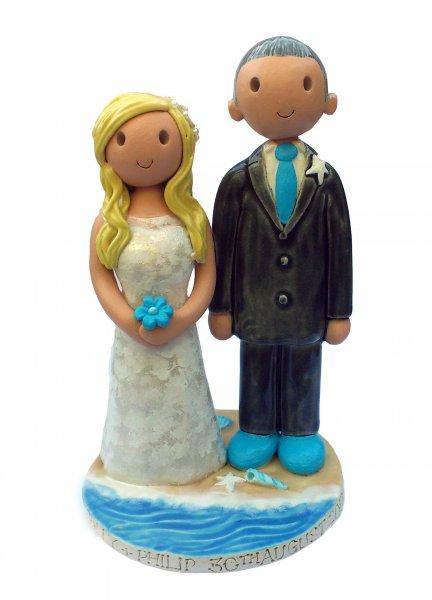 Seaside Wedding Cake Topper