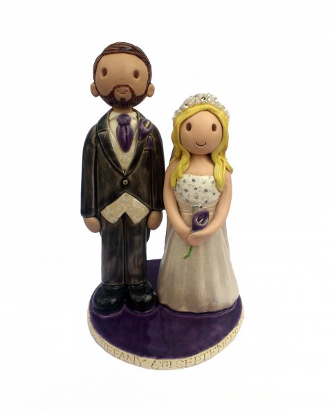 Tall Groom Cake Topper