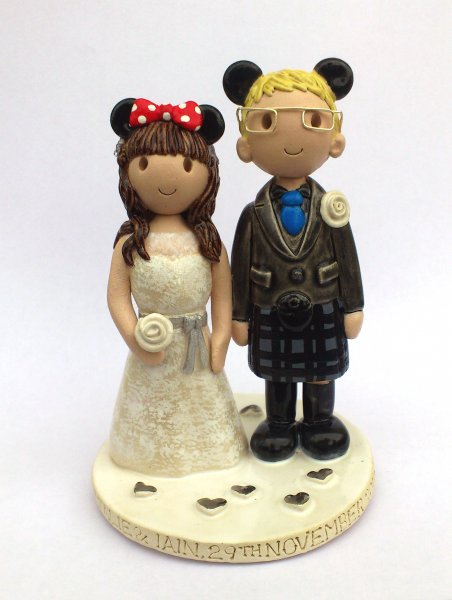 Mickey and Minnie Mouse Cake Topper
