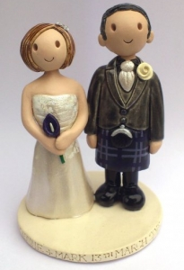 Kilt Wedding Cake Topper