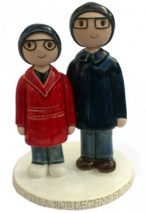Winter Wedding Cake Topper