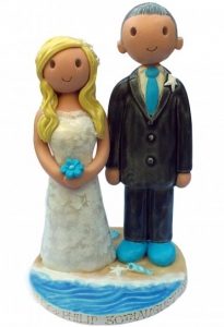 Seaside Wedding Cake Topper