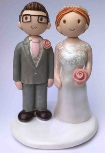 Pink And Grey Cake Topper