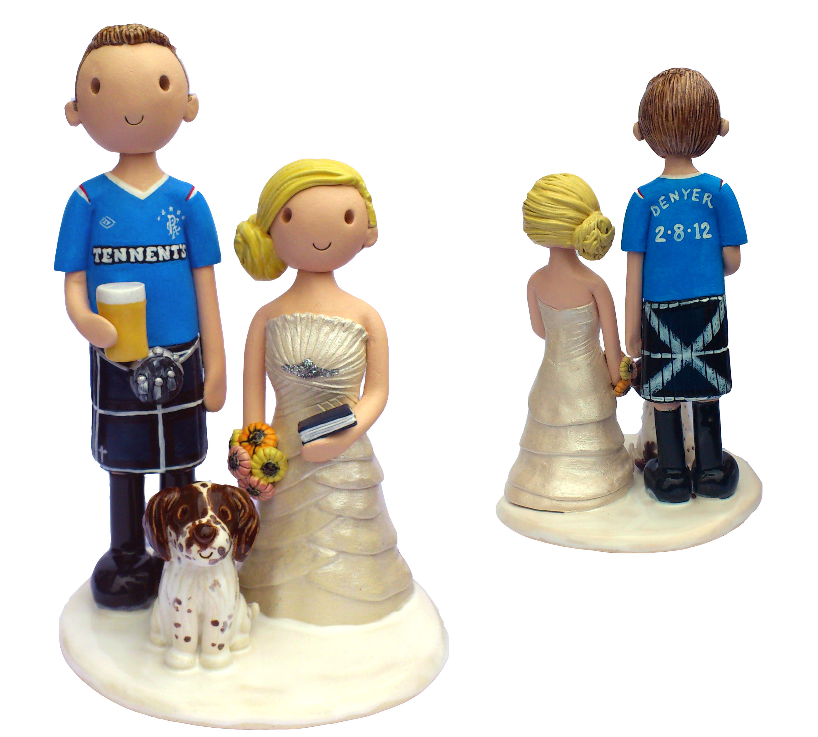 Cake toppers back to front!