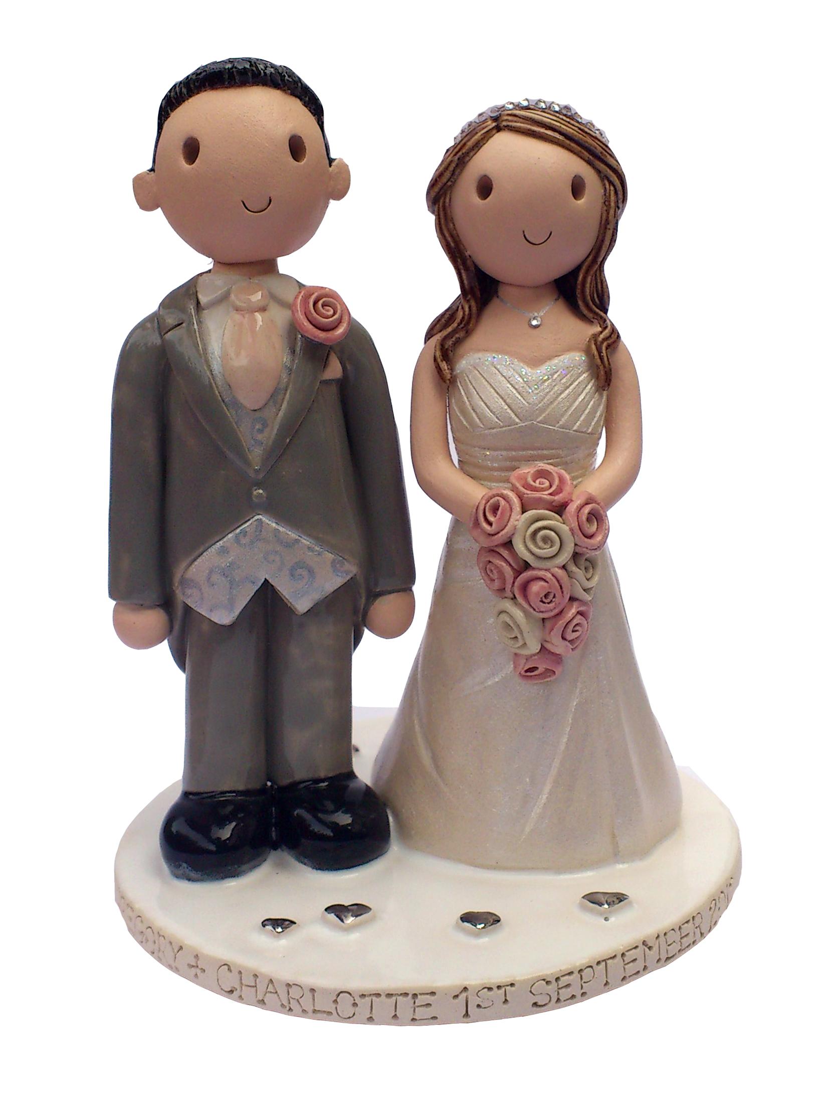 Weddings 3 4 Cake Toppers