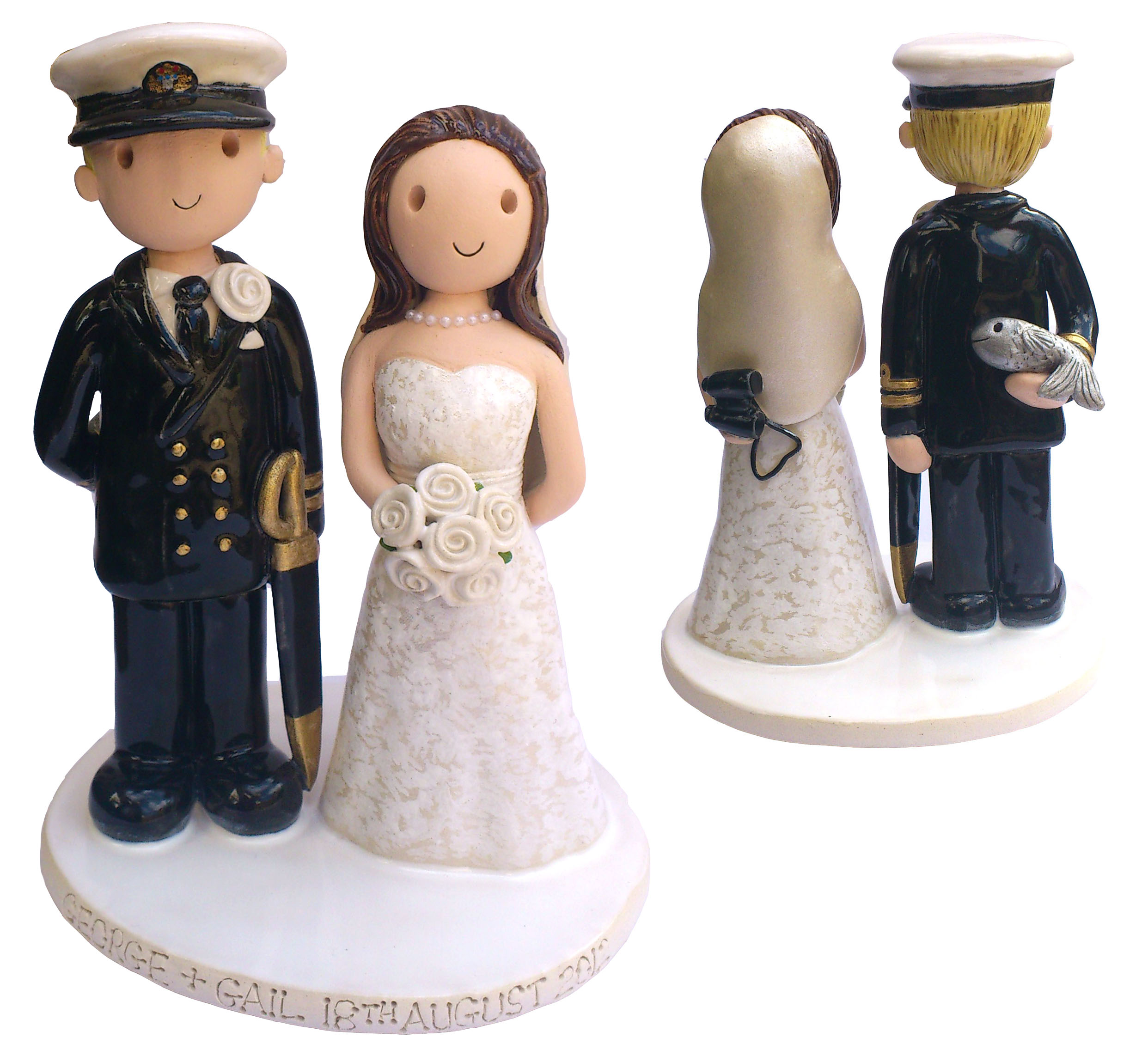 wedding cake toppers fishing