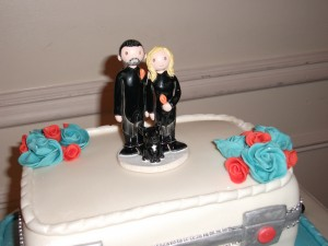 Cake with topper1
