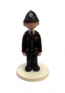 Policeman cake topper